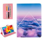 For Galaxy Tab E 8.0 Cloud Pattern Flip Leather Case with Holder & Card Slots & Wallet