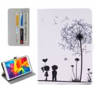 For Galaxy Tab E 8.0 Couple Pattern Flip Leather Case with Holder & Card Slots & Wallet