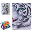 For Galaxy Tab E 8.0 Tiger Pattern Flip Leather Case with Holder & Card Slots & Wallet