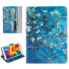 For Galaxy Tab E 8.0 Blossom Pattern Flip Leather Case with Holder & Card Slots & Wallet