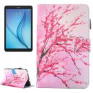 For Galaxy Tab E 8.0 Blossom Pattern Flip Leather Case with Holder & Card/Pen Slots