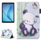 For Galaxy Tab E 8.0 Panda Pattern Flip Leather Case with Holder & Card/Pen Slots