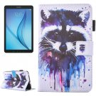 For Galaxy Tab E 8.0 Raccoon Pattern Flip Leather Case with Holder & Card/Pen Slots