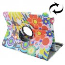 For Galaxy Tab A 9.7 Colorful Pattern Flip Leather Case with Rotating Holder
