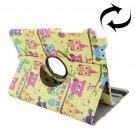 For Galaxy Tab A 9.7 Owls Pattern Flip Leather Case with Rotating Holder