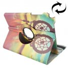 For Galaxy Tab A 9.7 Windbell Pattern Flip Leather Case with Rotating Holder
