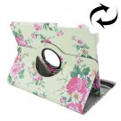 For Galaxy Tab A 9.7 Flowers Pattern Flip Leather Case with Rotating Holder
