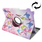 For Galaxy Tab A 9.7 Butterflies Pattern Flip Leather Case with Rotating Holder