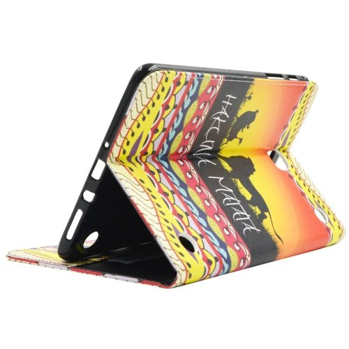 For Galaxy Tab A 9.7 Lion Pattern Flip Leather Case with Holder, Card Slots & Wallet