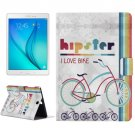 For Galaxy Tab A 9.7 Bike Pattern Horizontal Flip Leather Case with Holder