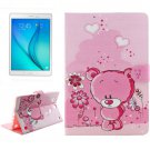 For Galaxy Tab A 9.7 Bear Pattern Flip Leather Case with Holder, Card Slots & Wallet