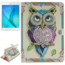 For Galaxy Tab A 9.7 Owl Pattern Flip Leather Case with Holder, Card Slots & Wallet