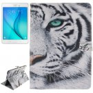 For Galaxy Tab A 9.7 Tiger Pattern Flip Leather Case with Holder, Card Slots & Wallet