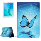 For Galaxy Tab A 9.7 Butterfly Pattern Horizontal Flip Leather Case with Holder