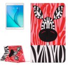 For Galaxy Tab A 9.7 Zebra Pattern Horizontal Flip Leather Case with Holder