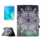 For Galaxy Tab A 9.7 Retro Pattern Flip Leather Case with Holder, Card Slots & Wallet