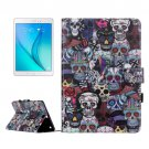 For Galaxy Tab A 9.7 Ghost Pattern Flip Leather Case with Holder, Card Slots & Wallet