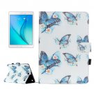 For Galaxy Tab A 9.7 Butterfly Pattern Flip Leather Case with Holder, Card Slots & Wallet