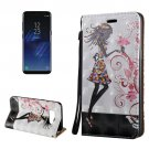 For Galaxy S8 3D Fairy Magnetic Adsorption Leather Case with Holder & Card Slots