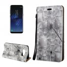 For Galaxy S8 3D Dandelion Magnetic Adsorption Leather Case with Holder & Card Slots