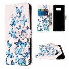 For Galaxy S8 Butterfly Pattern Leather Case with Card Slots, Holder & Wallet