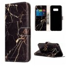 For Galaxy S8 Black Marble Pattern Leather Case with Card Slots, Holder & Wallet