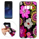 For Galaxy S8 Colourful Flower Pattern Soft TPU Protective Case