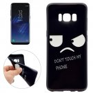 For Galaxy S8 Angry Face Pattern Soft TPU Protective Case