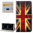 For Galaxy S8+ UK Flag Pattern Flip Leather Case with Holder, Card Slots & Wallet