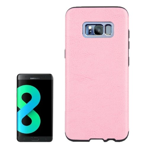 For Galaxy S8+ Pink Crazy Horse Texture PU Leather Protection Back Cover Case