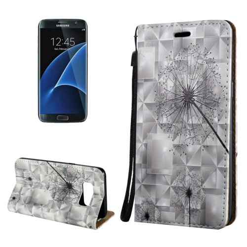 For Galaxy S8+ 3D Dandelion Magnetic Leather Case with Holder, Card Slots & Lanyard