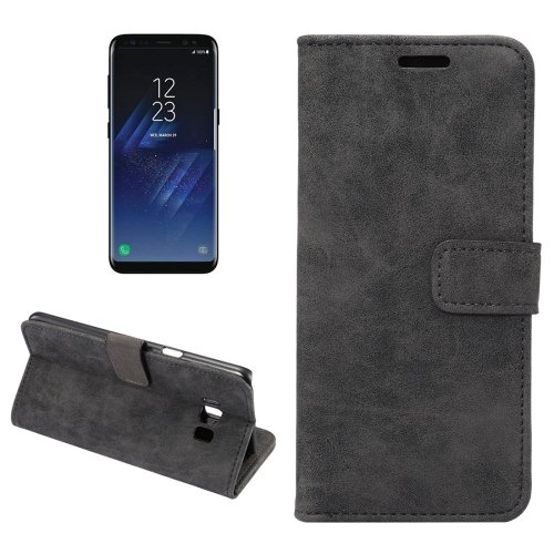 For Galaxy S8+ Black Sheep Bar Leather Case with Holder, Card Slots & Wallet