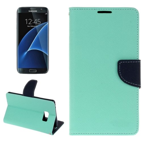 For Galaxy S8+ Light Green Cross Texture Leather Case with Card Slots, Holder & Wallet
