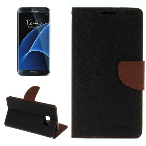 For Galaxy S8+ Brown Cross Texture Leather Case with Card Slots, Holder & Wallet