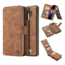 For Galaxy S8+ Brown Crazy Horse Texture Flip Detachable Back Cover Leather Case