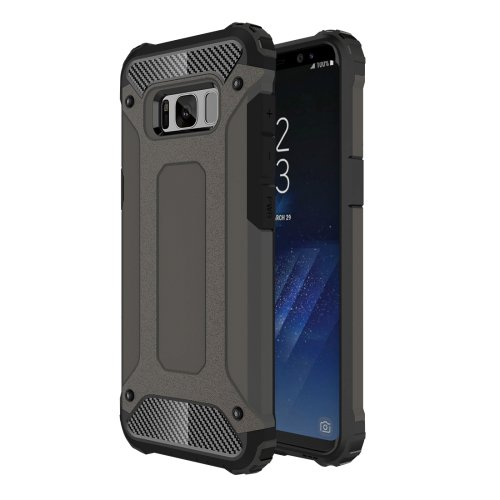 For Galaxy S8+ Coffee Tough Armor TPU + PC Combination Case