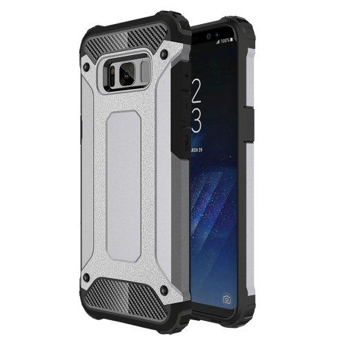 For Galaxy S8+ Grey Tough Armor TPU + PC Combination Case
