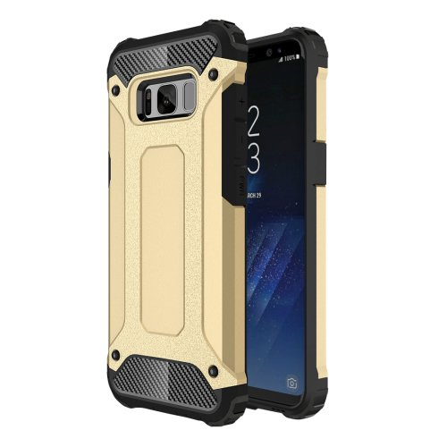 For Galaxy S8+ Gold Tough Armor TPU + PC Combination Case