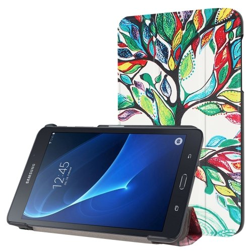 For Galaxy Tab A 7.0 Abstract Pattern Flip Leather Case with 3-folding Holder