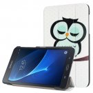 For Galaxy Tab A 7.0 Owl Pattern Flip Leather Case with 3-folding Holder