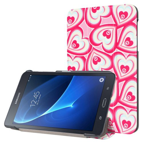 For Galaxy Tab A 7.0 Love Pattern Flip Leather Case with 3-folding Holder