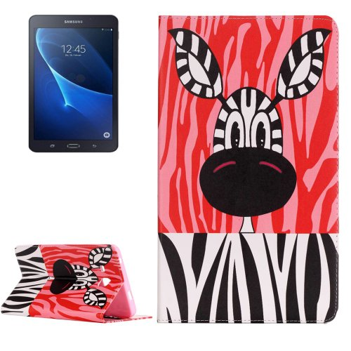 For Galaxy Tab A 7.0 Zebra Pattern Horizontal Flip Leather Case with Holder