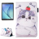 For Galaxy Tab A 7.0 Tomato Cat Pattern Horizontal Flip Leather Case with Holder & Card Slots