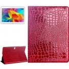For Galaxy Tab S 10.5 Red Crocodile Texture Flip Leather Case with Holder