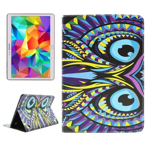 For Tab S 10.5 Owl Pattern 2 Side Print Leather Case with Holder, Card Slots & Wallet