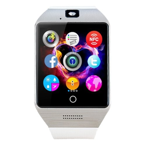 White + Silver Q18S 1.54 inch IPS Screen MTK6260A Bluetooth 3.0 Smart Watch
