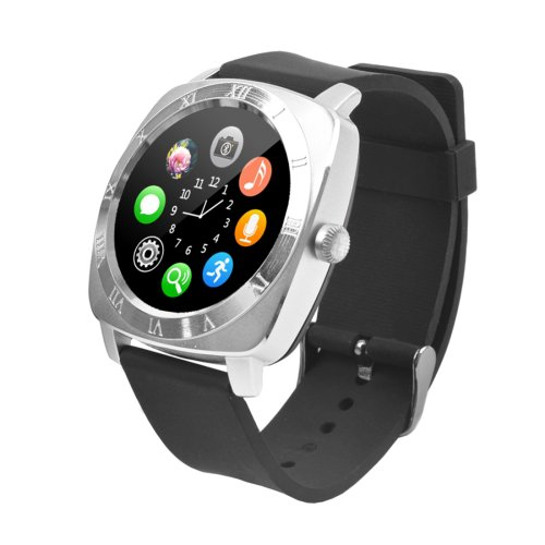 X5 1.33 inch Full IPS Capacitive Round Touch Screen Bluetooth 3.0 Smart Watch - 3 colors