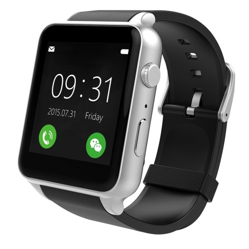 GT88 Bluetooth Fitness Tracker Smart Watch with Camera, Support SIM - 2 colors