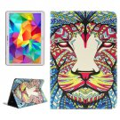 For Tab S 10.5 Lion Pattern 2 Side Print Leather Case with Holder, Card Slots & Wallet