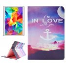 For Tab S 10.5 Love Pattern 2 Side Print Leather Case with Holder, Card Slots & Wallet